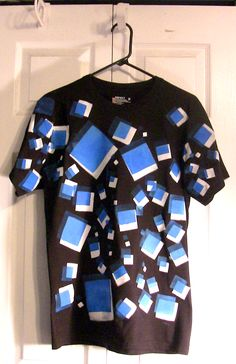 A shirt that I made. painted in squares with fabric paint