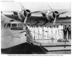 Hawaii Clipper christening, Honolulu, 1936