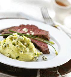 Argentine Steak Chimichurri With Gorgonzola Mashed Potatoes: try potatoes