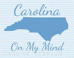Carolina on My Mind Print by HausofAriella, $12.00
