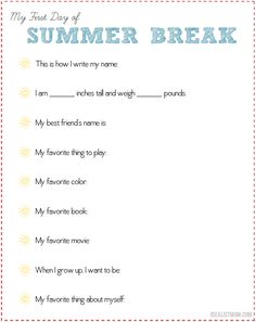 Don't Forget to Do This on the Last Day of School - Free Printable