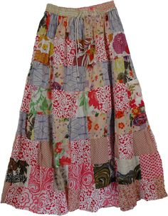 Gypsy And Boho Clothing | Garnet Gypsy Summer Long Skirt | Clothing | patchwork - Shop for bags ...