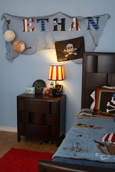 You Are The Roots: the big reveal: ethan's big boy pirate bedroom