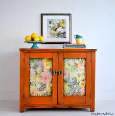 Layered one of a kind sideboard - orange painted furniture #ad