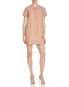 Kendall + Kylie Lace-Up Safari Dress