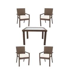 Hampton Bay Beverly 5-Piece Patio Dining Set with Bare Cushion-55-23355 - The Home Depot