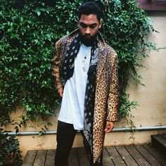 Miguel's R&B style is truly a personal expression of texture, pattern and comfort.