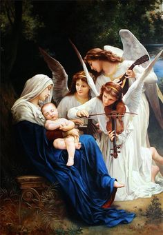 Large Oil Painting The Song Of The Angels Copy Cm Painting On Canvas Interior Decor Bright Color Gift Classical Painting Large Oil Painting Quot The Song Of The Angels Quot Copy Cm Painting On Canvas Interior Decor William Adolphe Bouguereau, French Paintings, Classic Paintings, Religious Paintings, Religious Art, Renaissance Kunst, Jesus Pictures, Angels Among Us, Catholic Art