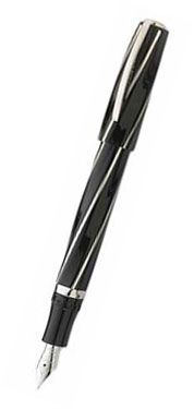 Visconti Black Divina Midi Fountain Pen