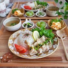 ワンプレート ランチ10 Food Decoration, Breakfast Lunch Dinner, Rice Dishes, Yams, Japanese Food, Fresh Rolls, Food To Make, Spicy, Food And Drink