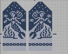 ВЯЗАНИЕ ДЛЯ СУМАСШЕДШИХ Baby Knitting Patterns, Knitted Mittens Pattern, Crochet Mittens, Knitting Charts, Knitting Socks, Knitted Christmas Stockings, Christmas Knitting, Cross Stitch Embroidery, Cross Stitch Patterns