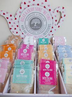 Dead sea salt bath tea bags £1.80 each.