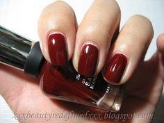 red zin (sally hansen complete salon manicure; red creme)