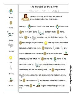 Parable of the Sower Rebus - this would be perfect for preschoolers to help tell the story!