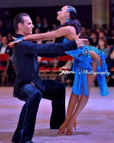 Beautiful blue latin dress. I love the side tassels.  #latin #dancesport #dance