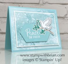 Our lives have been really crazy lately, and the world seems anxious and unsettled. What we need right now is a little peace and love. That's what inspired me to reach for my Dove of Peace Bundle to make a soft and beautiful card that shares the poignant message of