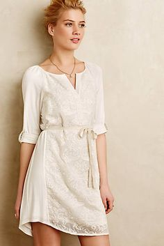 Paperwhites Embroidered Shirtdress, Anthropologie