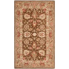 Anatolia Brown/Green 3 ft. x 5 ft. Area Rug