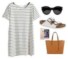 """Untitled #91"" by aise2002 ❤ liked on Polyvore featuring Yves Saint Laurent, Birkenstock and Michael Kors"