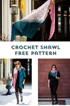 Crochet Shawl Amsterdam Crochet Your Fade Shawl Free Pattern — Stitch Crochet Shawl Free, Crochet Shawls And Wraps, Crochet Scarves, Crochet Clothes, Knit Crochet, Crochet Hats, Crochet Jumper, Crochet Granny, Easy Crochet