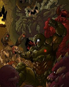 "1,421 Likes, 6 Comments - for all the Doom fans (@doom_fans) on Instagram: ""I'm surrounded.. now it's a fair fight! Thank you Joelchan via DeviantArt for the post! #DOOM"""