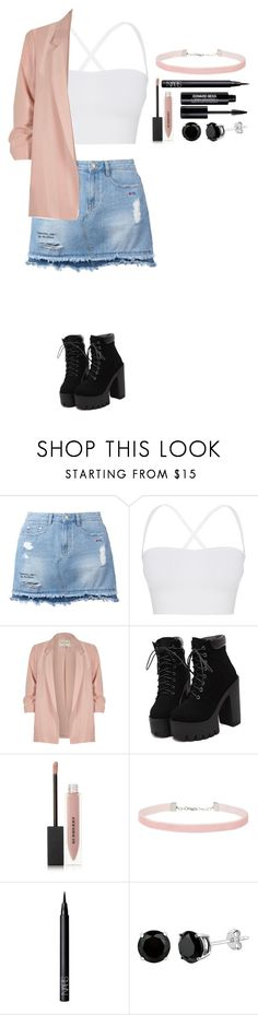"""""""Untitled #362"""" by dutchfashionlover ❤ liked on Polyvore featuring Steve J & Yoni P, Theory, River Island, Burberry, Miss Selfridge, NARS Cosmetics and Edward Bess"""