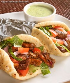 Seitan Gyros with Tzatziki Sauce - Vegan (from one of my favorite cookbooks!)