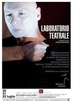 Laboratorio di teatro dal 20 al 22 luglio sul #lagomaggiore con il bravo Danio Manfredini #teatro #villaggiodartista