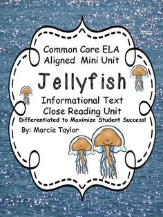 This mini unit is part of a larger unit: Ocean Animals- Nonfiction Close Read Unit- Differentiated Texts  It is closely aligned to the Common Core State Standards for Informational Text.  This section includes informational text articles, text dependent questions, graphic organizers, and writing prompts.