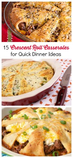 LINK LOVE: 15 Crescent Roll Casseroles for Quick Dinner Ideas | I love cooking with crescent rolls! They make for the best casserole recipes.