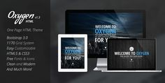 Oxygen One Page Parallax Theme . Oxygen One Page Parallax Theme