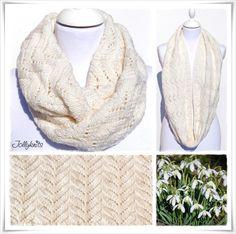 Strickanleitung Loop Snowdrops / Knitting Pattern Cowl Snowdrops