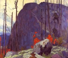 """""""Algoma Hill"""" by Lawren Harris Biography & Paintings - The Group of Seven - The Art History Archive Tom Thomson, Emily Carr, Group Of Seven Artists, Group Of Seven Paintings, Winter Landscape, Landscape Art, Landscape Paintings, Canadian Painters, Canadian Artists"""