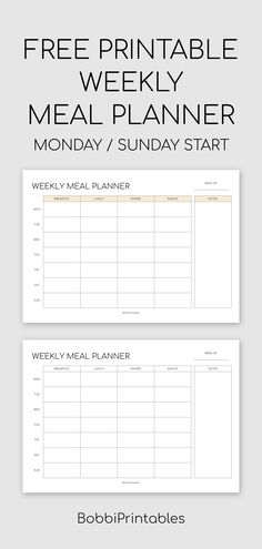 Printable Weekly Meal Planner - Expolore the best and the special ideas about Budget meal planning Free Meal Planner, Meal Planner Template, Meal Planner Printable, Printables, Weekly Food Planner, Food Journal Printable, Family Meal Planner, Weekly Meal Plan Template, Money Planner
