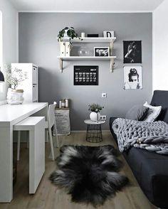 Study Room Decor, Room Ideas Bedroom, Decor Room, Girls Bedroom, Teenage Bedrooms, White Bedroom Decor, Warm Bedroom, Tiny Bedrooms, Study Rooms