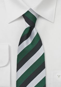 Green with silver and black. <3