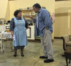 Aggie and Tom ... Dress rehearsal in the warehouse ... A Catered Affair ... #mta2015