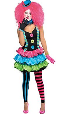 Details about girls teen cool clown costume circus fancy dress party halloween jester monster Clown Costume Women, Jester Costume, Costume Hats, Diy Costumes, Costumes For Women, Clown Costumes, Cute Clown Costume, Costume Ideas, Circus Costume