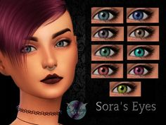 elphine-cc:  Sora's Eyes NON DEFAULT -For males and females of all ages -Can be found in the Facepaint category -Customized thumbnail Created with Sims4Studio & Photoshop Please do not re-upload any of my creations or claim them as your own. My creations are hand-painted and have taken time to create. Thank you :)Visit my TSR page here DOWNLOAD: DROPBOX