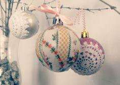Vintage Fabric Christmas Ornaments Tutorial