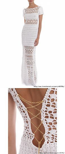 ♥ DIY... Inspiring Crochet Idea ♥ Gorgeous Beautiful Dress!