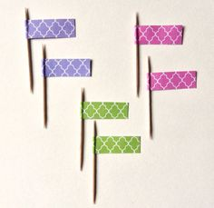 PARTY DECOR - Set of 18 Decorative Toothpicks by RittenhouseTrades, $6.00