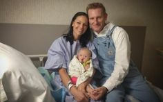 Joey Feek, Rory Feek, and daughter Indiana.
