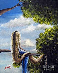 Shawna Erback - Rapunzel Original Artwork from my Acrylic Painting