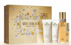 WHITE DIAMONDS by Elizabeth Taylor SET-EDT SPRAY 3.3 OZ & EAU DE PARFUM SPRAY .5 OZ & BODY CREAM 3.3 OZ & BODY WASH 3.3 OZ for WOMEN by Elizabeth Taylor. $40.02. We offer many great sales and discounts making this fragrance cheaper than at department stores.. All our fragrances are 100% originals by their original designers. We do not sell any knockoffs or immitations.. Packaging for this product may vary from that shown in the image above. Gift Set ( Eau De Toilette Spray...