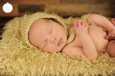 Tan Baby Bonnet Photography Props Baby Boy Hat by The Damask Baby