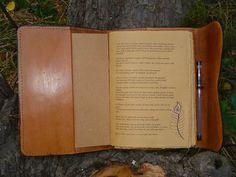 Cuero rústico diario mano fileteado escrito a por MadeOfLeather
