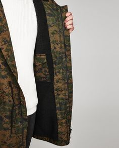 CAMOUFLAGE FAUX SHEARLING PARKA-Casual-JACKETS-MAN-SALE | ZARA United States