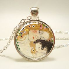 A lovely gift for a mother-to-be...    Mother and Child by Gustav Klimt Necklace Art Pendant by rainnua, $14.45