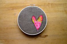 Heart on burlap. Would be great to add in a name #heart #hoop